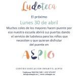 ludoteca 30 de abril