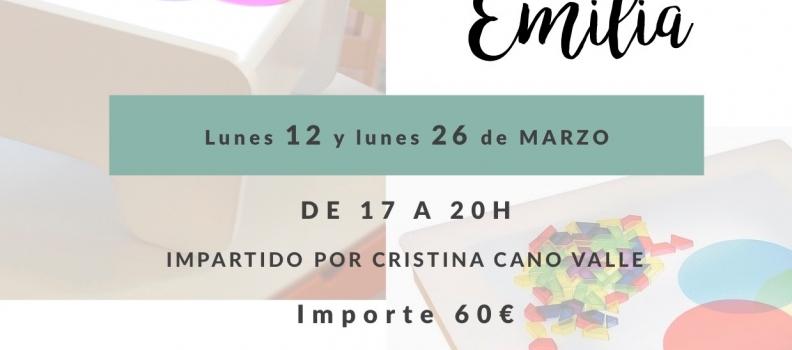 TALLER REGGIO EMILIA  12 y 26 de marzo